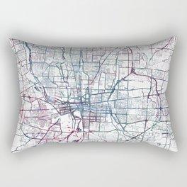 Columbus map Rectangular Pillow