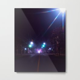 dark nights and flashing lights Metal Print