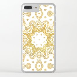 Golden pattern Clear iPhone Case