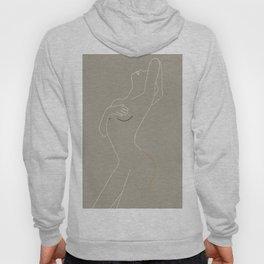 Minimal Line Art Woman Figure II Hoody