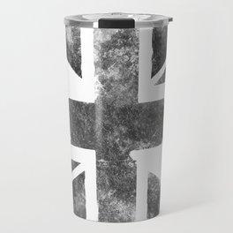 Grey UK Flag Travel Mug