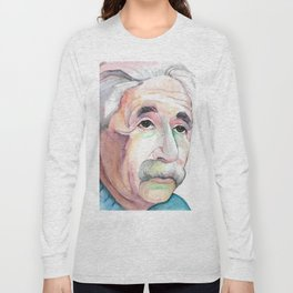 Albert Einstein Portrait Long Sleeve T-shirt