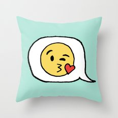 Emoji - Winky Face Throw Pillow