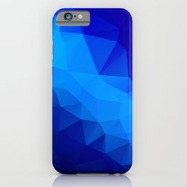 Abstract digital art polygon triangles iPhone Case