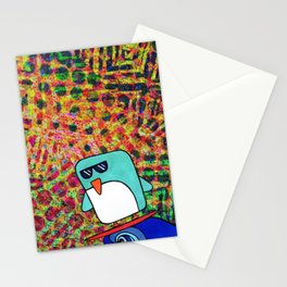 street surfing penguin  Stationery Cards