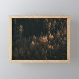 Autumn Fire - Landscape and Nature Photography Framed Mini Art Print