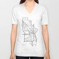 milwaukee V-neck T-shirts featuring Milwaukee by linnydrez