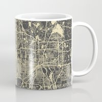 minneapolis Mugs featuring Minneapolis Map by Map Map Maps