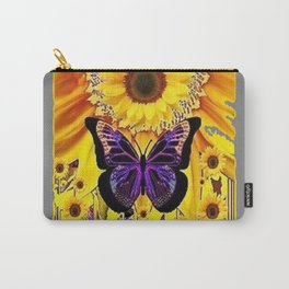 BLACK MONARCH STYLE SUNFLOWER ABSTRACT ART Carry-All Pouch