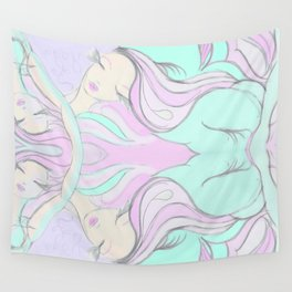 I like to day dream while I Yoga Wall Tapestry