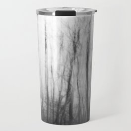 The haunting forest, black and white Travel Mug