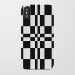 Intersections Black and White iPhone Case