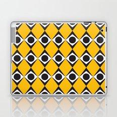 Orange diamond & circles pattern Laptop & iPad Skin