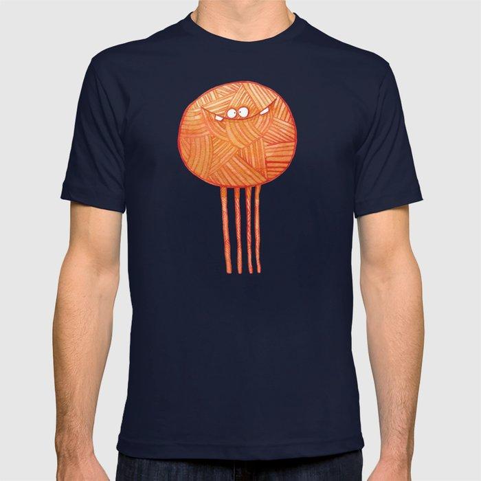 Poofy Orange Yarn T-shirt