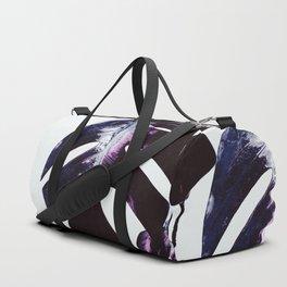 Dark lavender monstera Duffle Bag