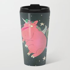 Super Horse... Unicorn Dreams. Metal Travel Mug