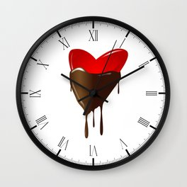 Chocolate Dipped Heart Wall Clock
