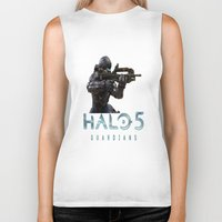 guardians Biker Tanks featuring Halo5 Guardians by giftstore2u