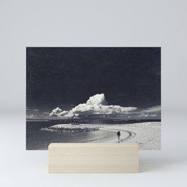 bEach Scene with ClouD Mini Art Print