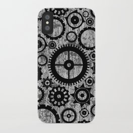 Grunge Cogs. iPhone Case