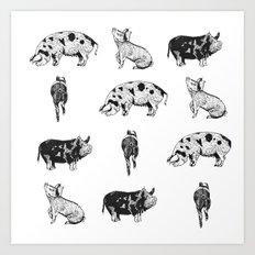 Pass The Pigs Art Print