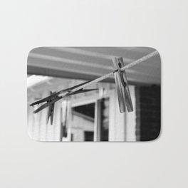 Clothespins on a Line Bath Mat