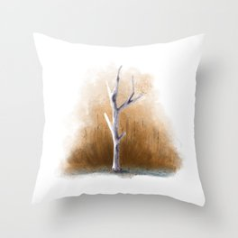 Watercolor Tree Throw Pillow
