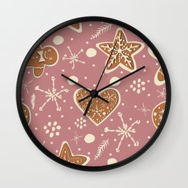 Gingerbread Cookie Wall Clock