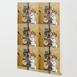 Cat Quartet Wallpaper