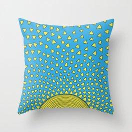 Playful Sunshine Throw Pillow