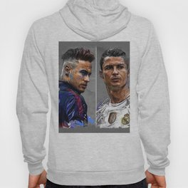 neymar jr and cristiano ronaldo Hoody
