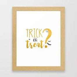 Trick Or Treat? | Glitter Framed Art Print