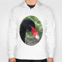 black swan Hoodies featuring Black Swan by Moonshine Paradise