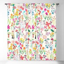 The Odd Floral Garden I Blackout Curtain