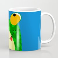 frog Mugs featuring Frog by Jessica Slater Design & Illustration