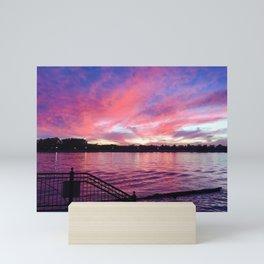 Serene Summer Sunset Mini Art Print