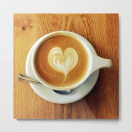 A Warm Cup of Love Metal Print