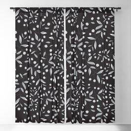 Autumn Dreams - Black Blackout Curtain