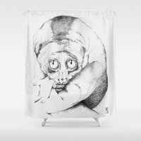 animal crew Shower Curtains featuring Animal by PoletMik