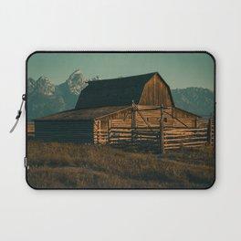 Grand Teton Mormon Row Barn Print Laptop Sleeve