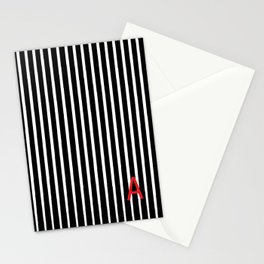 Stripes with and A Stationery Cards