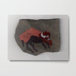 Bison on Slate Metal Print