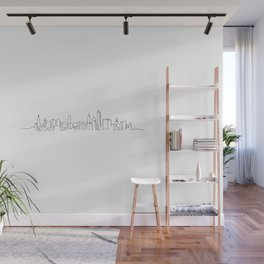 Chicago Skyline Drawing Wall Mural