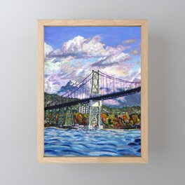 The Lions Gate, Vancouver Framed Mini Art Print