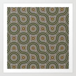 Round Truchets in CMR 01 Art Print