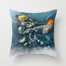 HALO / MASTER Ch Throw Pillow