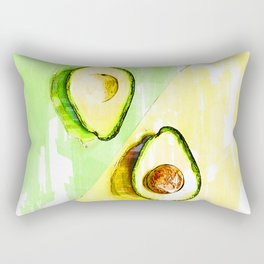 Two Tones Split Avocados. For Avocado Lovers Rectangular Pillow