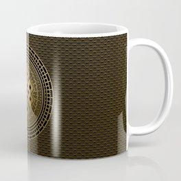 Gold Endless Knot  in Mandala Decorative Shape Coffee Mug