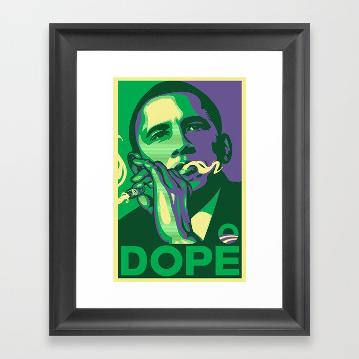 the dopest president Framed Art Print