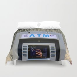 A Shadow Of One's Banking Selfie Duvet Cover